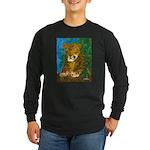 Leopard Tree Long Sleeve Dark T-Shirt