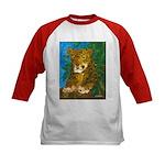 Leopard Tree Kids Baseball Jersey