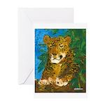 Leopard Tree Greeting Card