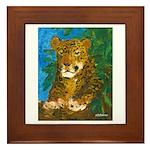 Leopard Tree Framed Tile