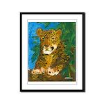 Leopard Tree Framed Panel Print