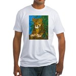 Leopard Tree Fitted T-Shirt