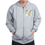 Alphabet in color Zip Hoodie