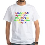 Alphabet in color White T-Shirt