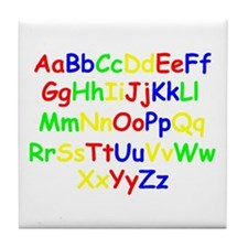Alphabet in color Tile Coaster
