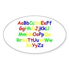 Alphabet in color Oval Decal