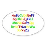 Alphabet in color Oval Sticker (10 pk)