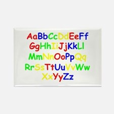 Alphabet in color Rectangle Magnet (10 pack)