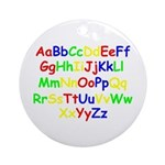 Alphabet in color Ornament (Round)