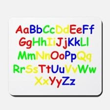 Alphabet in color Mousepad