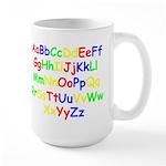 Alphabet in color Large Mug