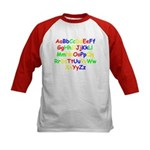 Alphabet in color Kids Baseball Jersey