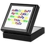 Alphabet in color Keepsake Box