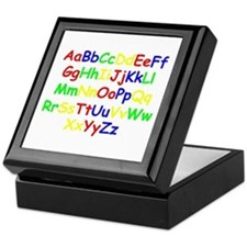 Alphabet in color Keepsake Box