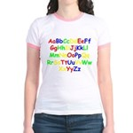 Alphabet in color Jr. Ringer T-Shirt