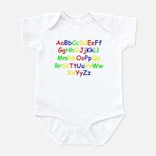 Alphabet in color Infant Bodysuit