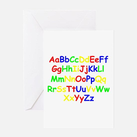 Alphabet in color Greeting Card