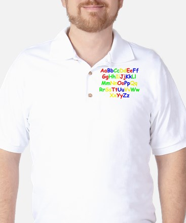 Alphabet in color Golf Shirt