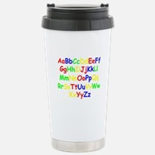Alphabet in color Stainless Steel Travel Mug
