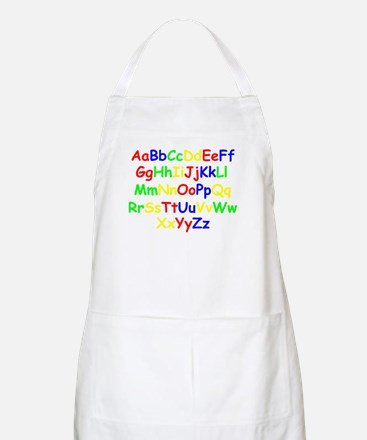 Alphabet in color BBQ Apron