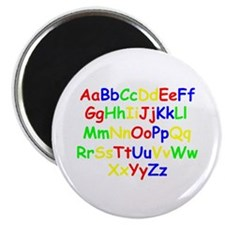 "Alphabet in color 2.25"" Magnet (100 pack)"