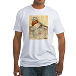Mealy English Trumpeter Pigeo Fitted T-Shirt