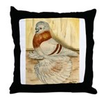 Mealy English Trumpeter Pigeo Throw Pillow