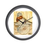 Mealy English Trumpeter Pigeo Wall Clock