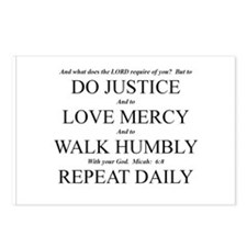 Unique Love mercy Postcards (Package of 8)