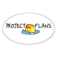 Project F.L.A.N.S. Oval Decal