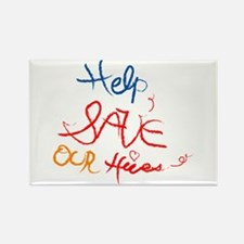 Help save our hives Rectangle Magnet