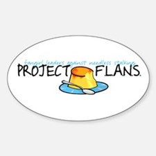 Project F.L.A.N.S. Full Logo Oval Decal