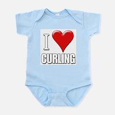 I Love (Heart) Curling Infant Creeper