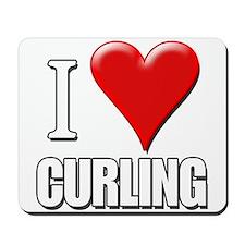 I Love (Heart) Curling Mousepad