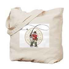 Wading a mountain stream Tote Bag
