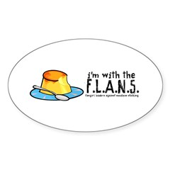 I'm with the F.L.A.N.S. Oval Decal