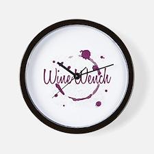 Wine Wench Wall Clock