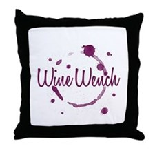 Wine Wench Throw Pillow