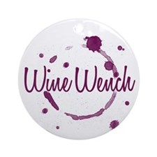 Wine Wench Ornament (Round)