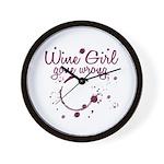 Wine Girl Gone Wrong Wall Clock