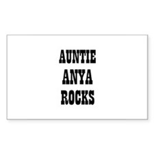 AUNTIE ANYA ROCKS Rectangle Decal