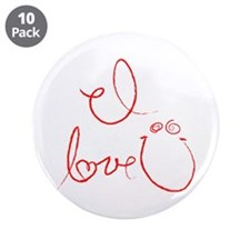 "I Love You 3.5"" Button (10 pack)"