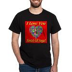 I Love You Santa's Lil Angel Black T-Shirt