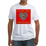 I Love You Santa's Lil Angel Fitted T-Shirt