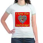 I Love You Santa's Lil Angel Jr. Ringer T-Shirt