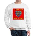 I Love You Santa's Lil Angel Sweatshirt
