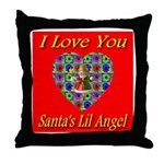 I Love You Santa's Lil Angel Throw Pillow