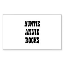 AUNTIE ANNIE ROCKS Rectangle Decal