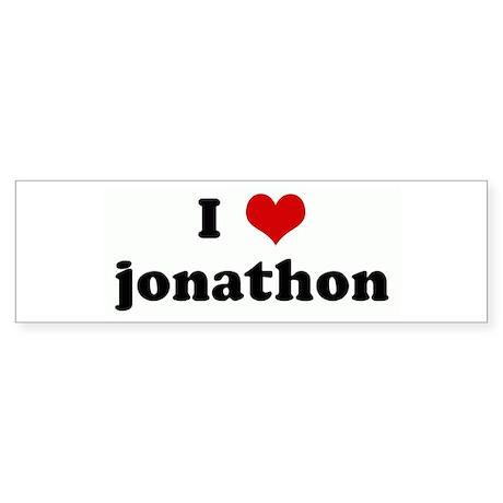 I Love jonathon Bumper Sticker