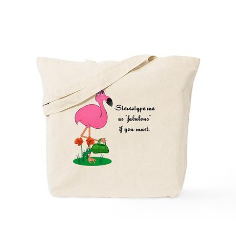 Fabulous Fanny Flamingo Tote Bag